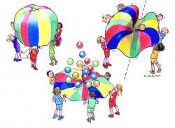 Parachute clipart kid parachute