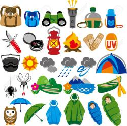 Camp clipart camping gear