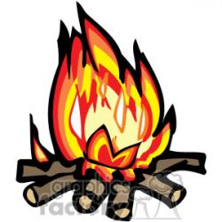 Camp Fire clipart orange things