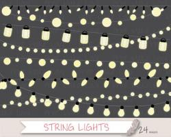 Paper Lantern clipart ball string light
