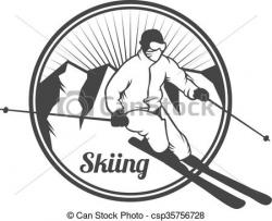 Outdoor clipart mountain skiing