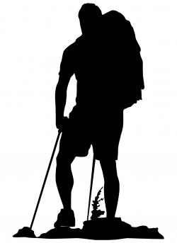 Hiking clipart silhouette
