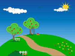 Countyside clipart outdoor scene