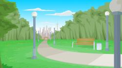Setting clipart public park