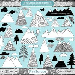 Triipy clipart mountain