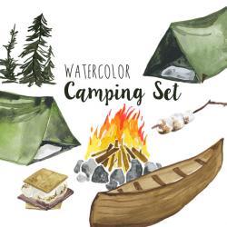 Tent clipart woods