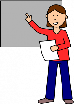 Display clipart student presentation
