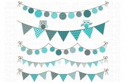Owl clipart bunting