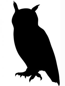 Great Horned Owl clipart flight silhouette