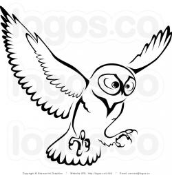 Barred Owl clipart outline