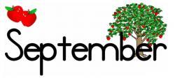Calendar clipart september