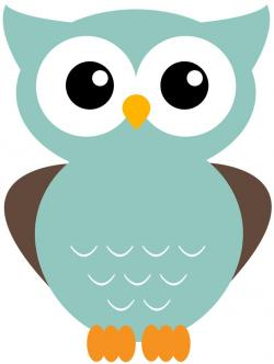 Owlet clipart turquoise