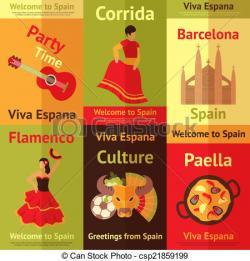 Paella clipart barcelona