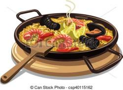Paella clipart food and wine