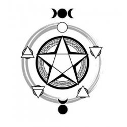Wiccan clipart black and white