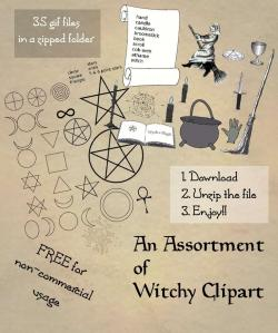 Wiccan clipart scroll line