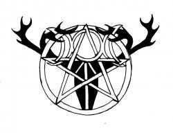 Wiccan clipart art design