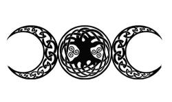 Pagan clipart triple moon