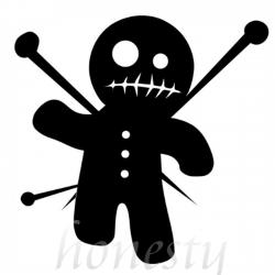 Voodoo clipart black and white