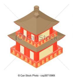 Pagoda clipart cartoon