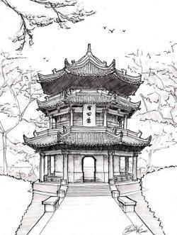 Drawn palace chinese architecture