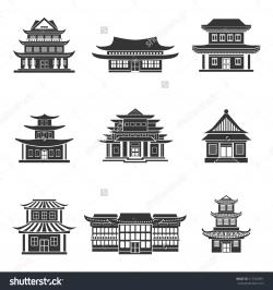 Pagoda clipart chinese house
