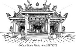 Asians clipart buddhist temple