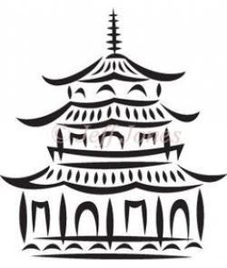 Pagoda clipart simple