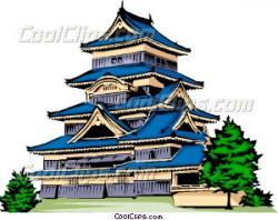 Temple clipart japanese pagoda