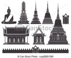 Pagoda clipart thai