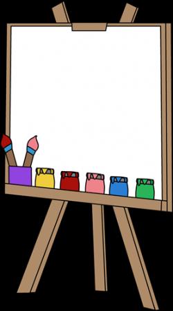 Palette clipart art easel