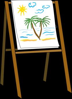 Portrait clipart art easel