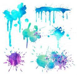 Watercolor clipart splat