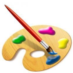 Palette clipart paint board