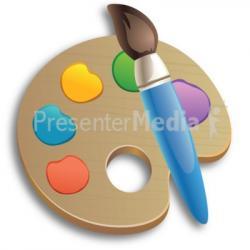 Palette clipart wet paint