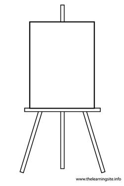 Gallery clipart easel stand