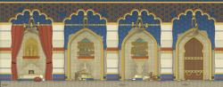Drawn palace arab