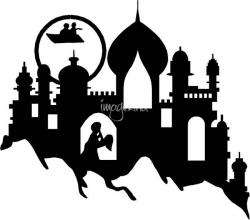 Arabien Nights clipart black and white