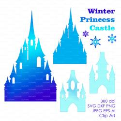 Palace clipart frozen castle