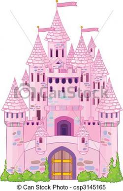 Drawn palace magical castle
