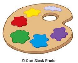 Colors clipart art pallet