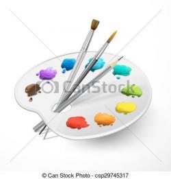 Palette clipart pensel