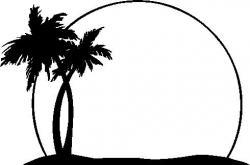 Hammock clipart sunset palm tree