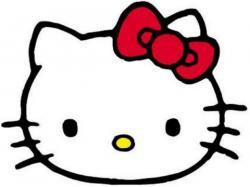 Hello! clipart hello kitty head