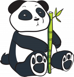 Red Panda clipart bamboo clipart
