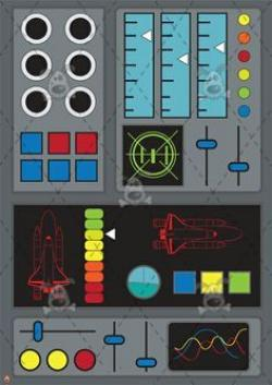 Panels clipart rocket control
