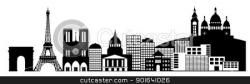 Panorama clipart black and white