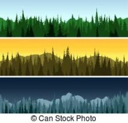 Panorama clipart forest