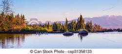 Panorama clipart lake background