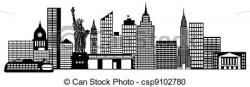 Panorama clipart new york skyline